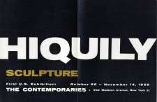 Exposition The Contemporaries Gallery - 1959, New York (Droits réservés - Archives Hiquily